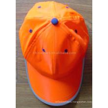 orange High Visibility reflective safety Cap