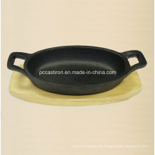 Preseasoned Gusseisen Mini Skillet Größe 15.5X9.7X3cm