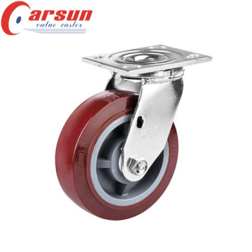 5inches Heavy Duty Swivel Polyurethane (PU) Caster Wheel