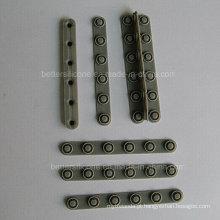 Teclado da borracha de silicone de 6 chaves da matriz 1X6