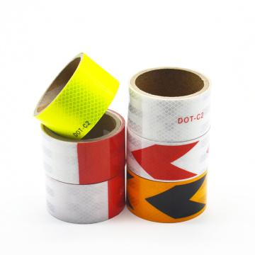 Cinta de vinilo reflectante de color amarillo para señal de tráfico