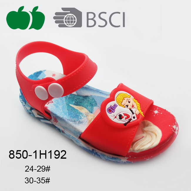 Summer Hot Sale Fashion Newest Design Cute Flat Girl Sandal