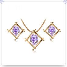 Bijoux en alliage Ensemble de bijoux à bijoux en cristal (AJS201)