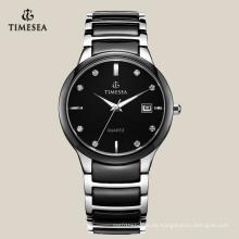 Reloj de pulsera para hombre con movimiento de cuarzo Reloj de cerámica Gent 72114
