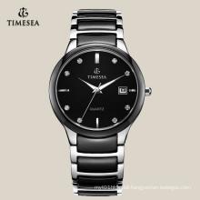 Mens Wrist Watch with Quartz Movement Gent′s Ceramic Watch 72114