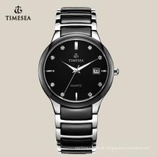 Relógio de pulso para homem com movimento de quartzo Gent Ceramics Ceramic Watch 72114