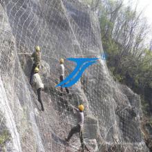 Protegendo a malha flexível da montanha