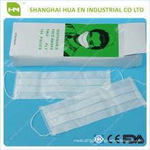 2ply máscara de papel embalada por caixa feita na China