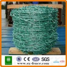 Arame farpado revestido de PVC verde