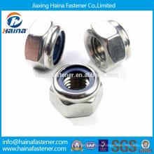 В наличии Сделано в Китае DIN982 Углеродистая сталь / Нержавеющая сталь Преобладающие шестигранные гайки с шестигранным крутящим моментом