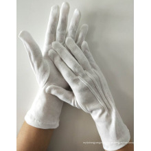 Lange weiße Baumwollhandschuhe