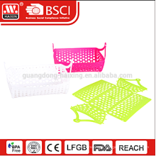 Unique DIY food grade foldable plastic basket collapsible insulated picnic basket
