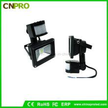Фабричная прямая продажа 10W PIR Sensor LED Floodlight