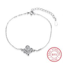 Bracelet en fer forgé en fer forgé 925 avec pendentif en zircon