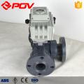 Plastic UPVC socket motorized ball valve 3 way