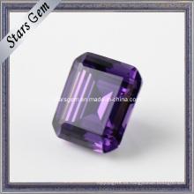 Amethyst Color Esmeralda Corte preciosas gemas cúbicas de circonita