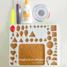 ABS + corcho diseño tablero para quilling arte kits