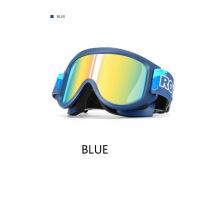 Rockbros Ski Glasses Windproof PC High Toughness Double-Layer Lens Ultralight UV400 Protection Anti-Fog Goggles Children Glasses