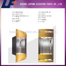 Ascensores comerciales de vidrio Elevador de pasajeros / Vista completa y ascensor panorámico de vidrio al aire libre