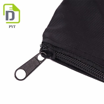 Small custom printed nylon zipper cosmetic pouch