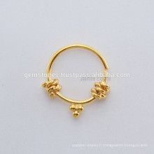 Bijoux apparents à base de bijoux à anneaux de noeuds ethniques à la main Septum Designer Nose Ring