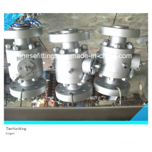 Acero al carbono Reduced Bore Port Forged Flange Ball A105 Valve