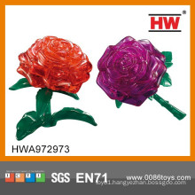 Hot Sale Plastic Super 3d Puzzle Crystal Rose Toy