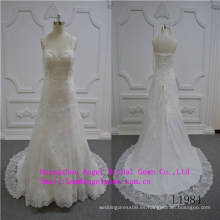 Vestido de novia con cuello en V de sirena