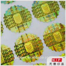Custom serial number hologram sticker master card in roll