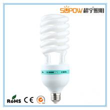40W 45W Lâmpada de poupança de energia espiral de meia luz compacta
