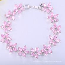 printemps style bijoux rose zircon cubique bracelet filles bijoux