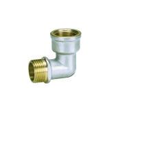 Acoplamiento de tornillo de latón con codo F / M con recubrimiento de níquel (Hz8040)
