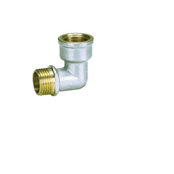 Elbow F/M Brass Screw Fitting with Nickle-Plated (Hz8040)