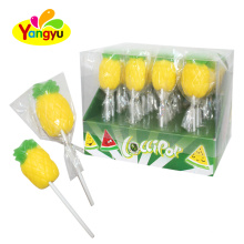 Yellow Pineapple Jelly Fruits Shaped  Lollipop