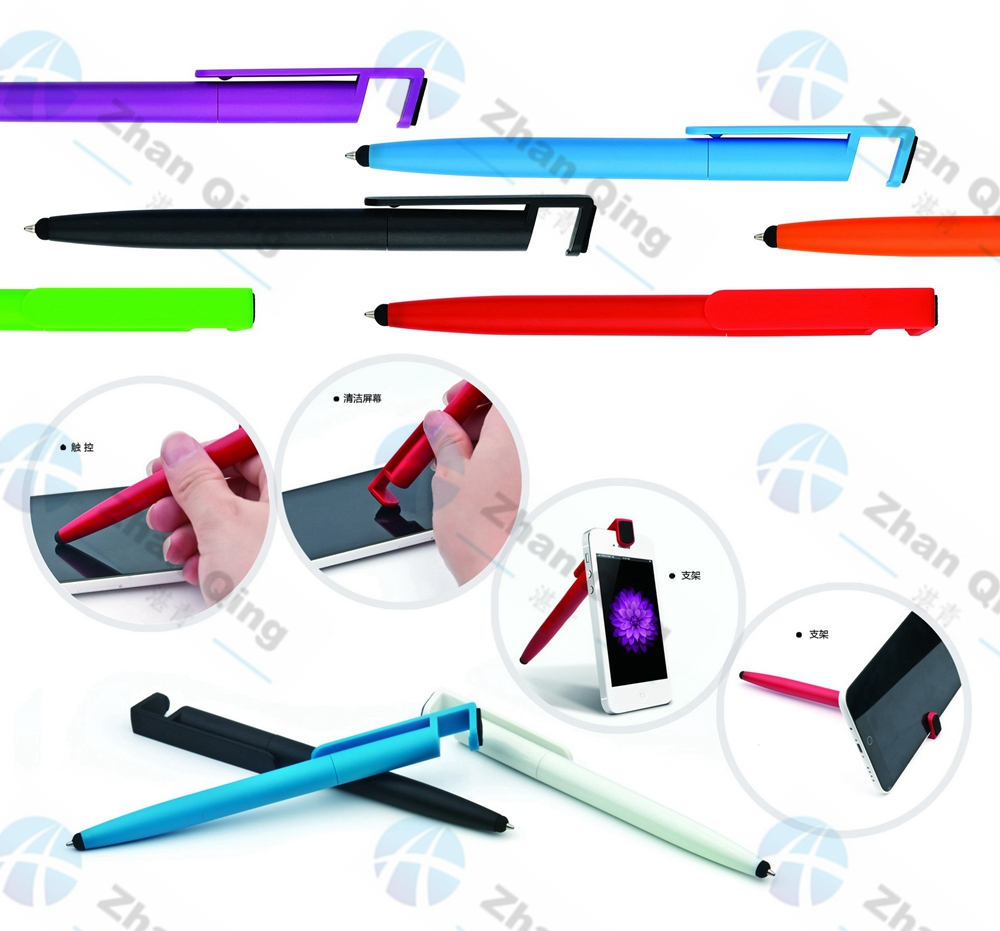 Plastic Ball Pen with Screen Cleaner