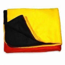 Polar Fleece Blankets with Lock Stitched Edges, Available in Various Colors