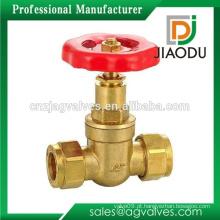 Taizhou fabricante baixo preço personalizado 1/2 polegada 600 wog forjado latão rosqueado válvula de portão de haste de aumento não