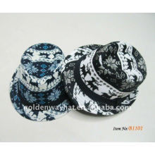 2012 Fashion Trendy White and Black Fedora Hats