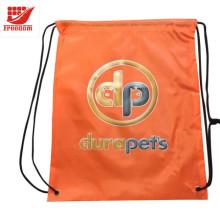 Praktische Recycle Werbe Polyester Kordelzug Tasche