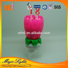 Professional Produce Flower Music Birthday Candle