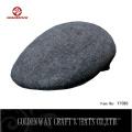 Kundenspezifische Männer graues Design Wolle Fahrer Caps / Wolle Filz Efeu Hut