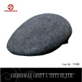 Chapeau de laine de conducteur en laine de conception gris personnalisé / chapeau de lierre en feutre de laine