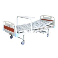 Lit d'hôpital médical pliant à manivelle simple en métal