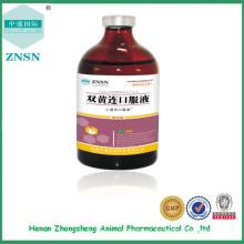Líquido oral chino de la medicina tradicional Shuanghuanglian para las aves de corral