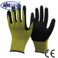 NMSAFETY sandy finish nitrile palm coated safety hand working gloves