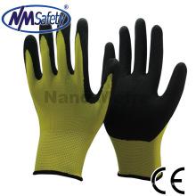NMSAFETY Sandy Finish Nitril Handfläche beschichtete Sicherheitshand Arbeitshandschuhe