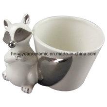 Desktop Fox Decoration Pot de fleurs en céramique (décoration de jardin)