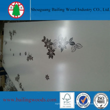 Top Grade White Melamine MDF with Flower Grain