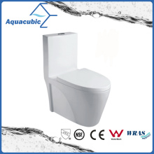 One Piece Round Front Bowl Toilet in White (ACT9382)
