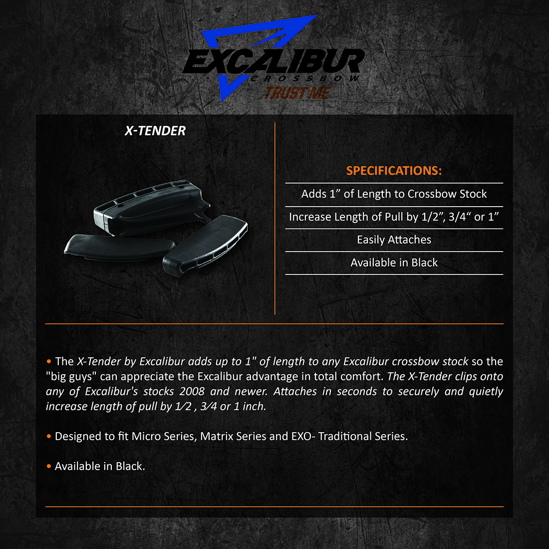 Excalibur_X-Tender_Black_Product_Description